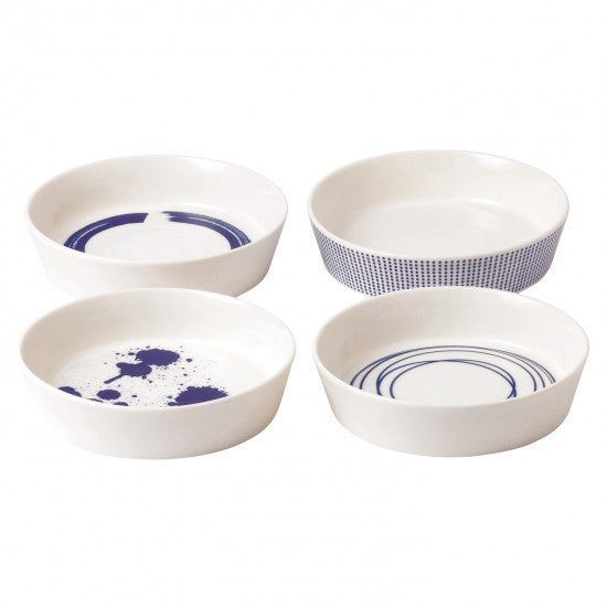 "Pacific Round Service Dish 6.3"" Set of 4 Mixed Patterns - Britannia Kitchen & Home Calgary"