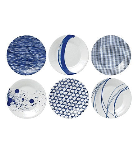 "PACIFIC TAPAS PLATE 6.3"" SET/6 MIXED PATTERNS"