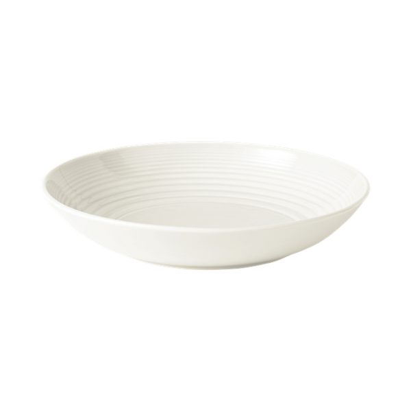 MAZE WHITE OPEN VEGETABLE/PASTA BOWLS SET/4