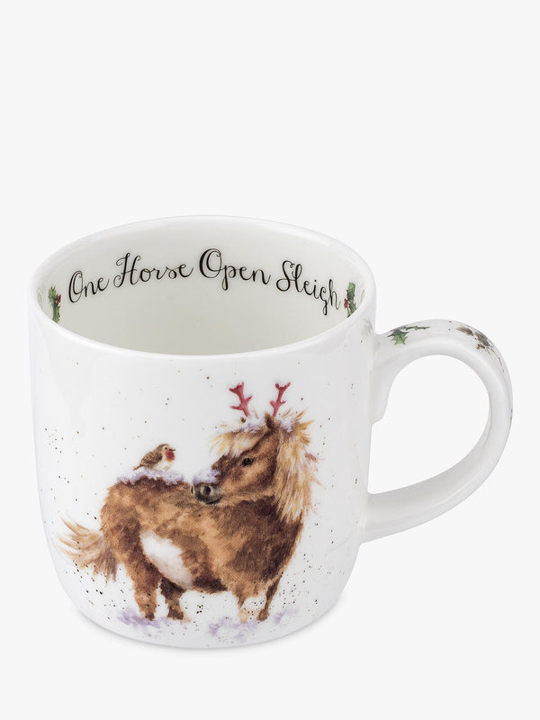 "11oz Mug ""One Horse Open Sleigh"" - Wrendale"
