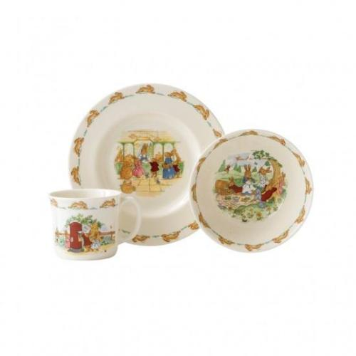 BUNNYKINS 3-PIECE CHILDRENS SET (BOWL, PLATE & ONE HANDLED MUG)