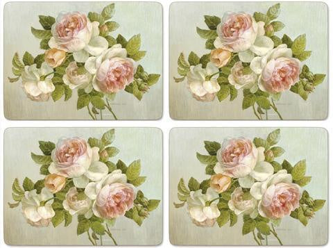 Pimpernel Antique Roses 16x12 Mats s/4 - Britannia Kitchen & Home Calgary
