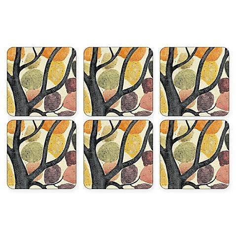 "Pimpernel - Dancing Branches 4x4"" Coaster s/6"