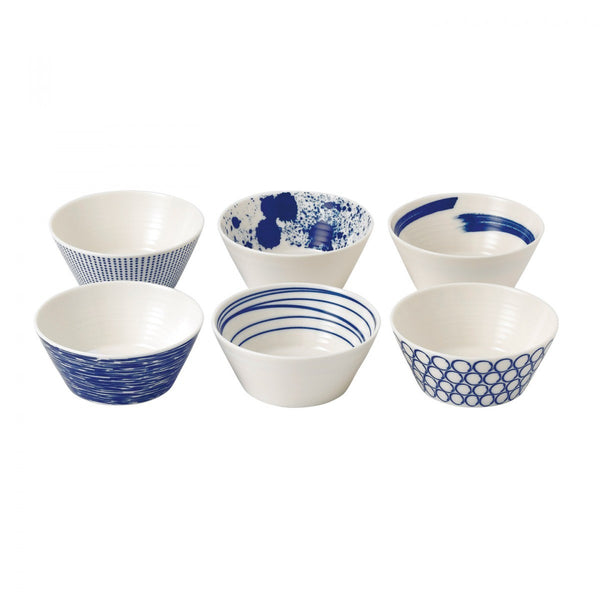 "PACIFIC TAPAS BOWL 4.3"" SET/6 MIXED PATTERNS"