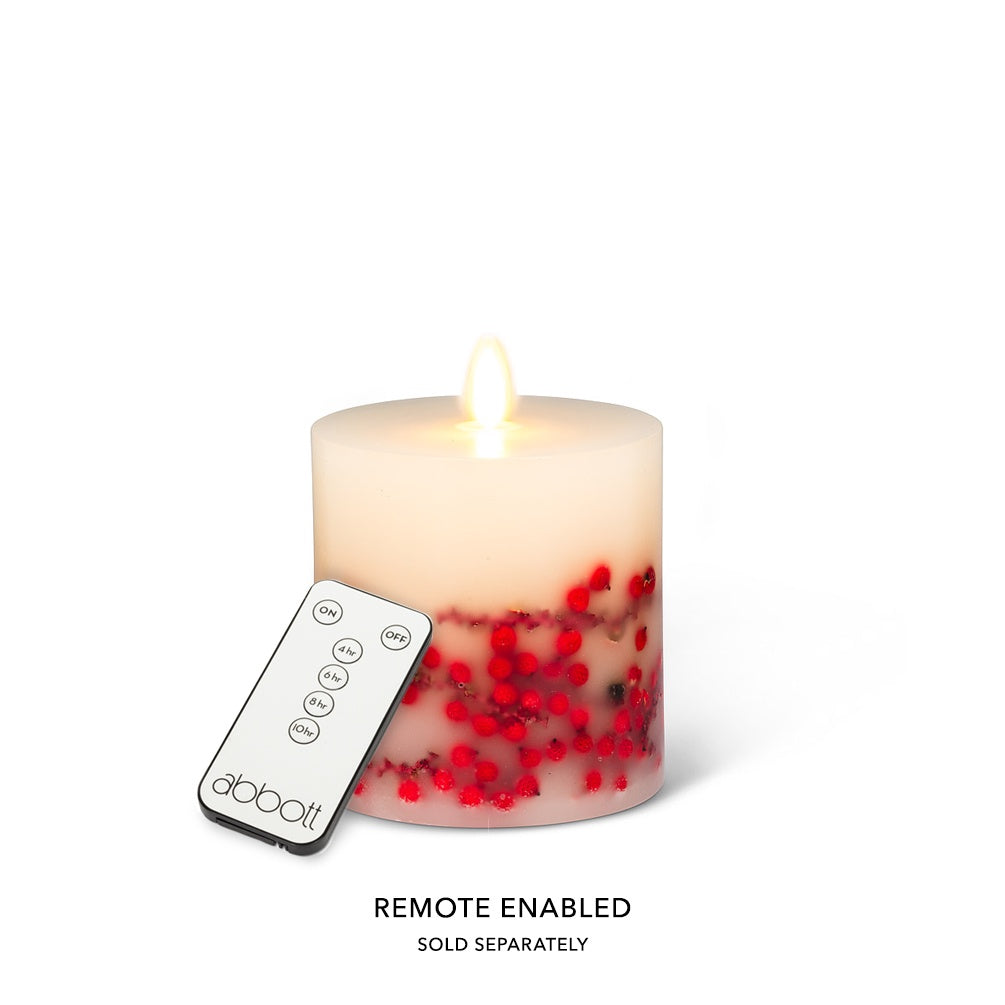 "Reallite Berry Candle - 3.5"" x 4"""