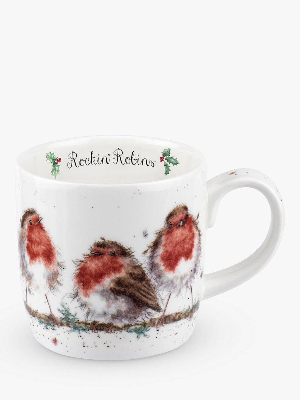"11oz Mug ""Rocking Robins"" - Wrendale"