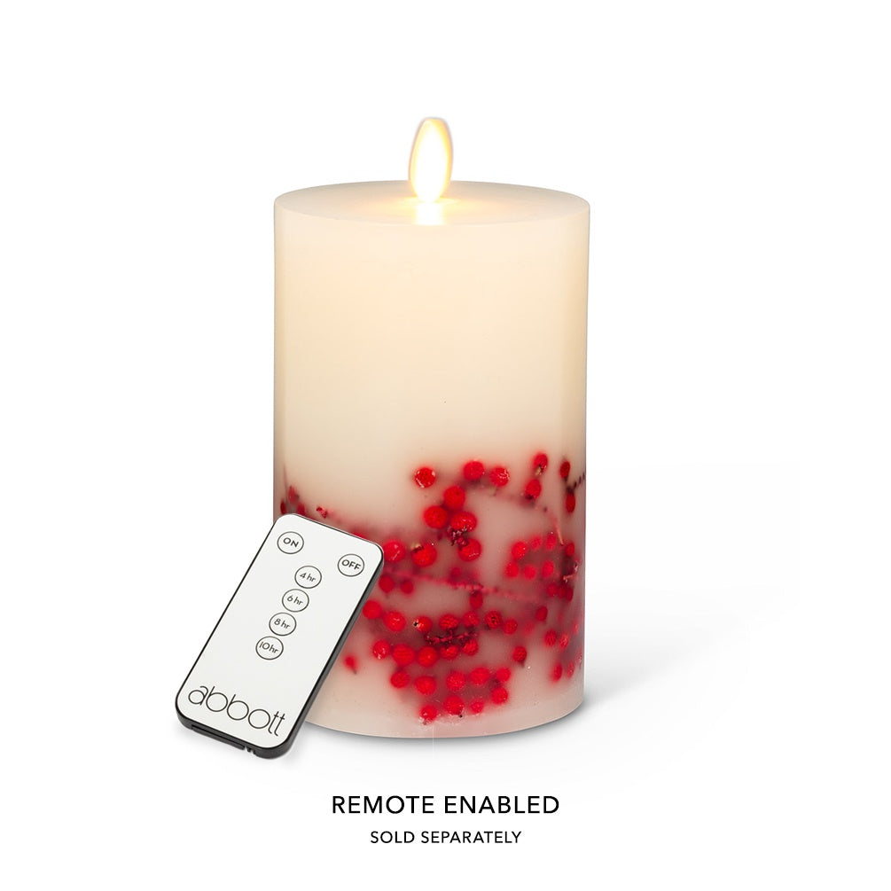 "Reallite Berry Candle - 3.5"" x 6"""