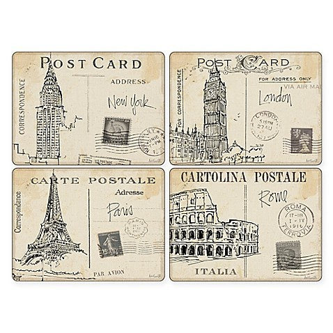 "Pimpernel - Postcard Sketches 16x12"" s/4 Mats - Britannia Kitchen & Home Calgary"