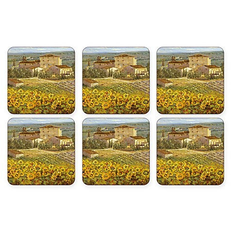 "Pimpernel - Tuscany 4x4"" s/6 Coasters - Britannia Kitchen & Home Calgary"