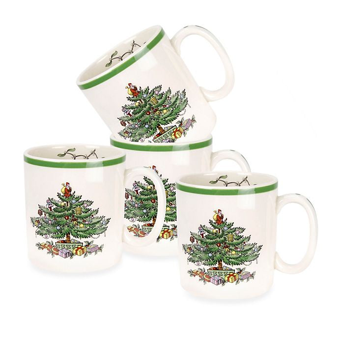 Spode Christmas Tree Mug - Set of 4
