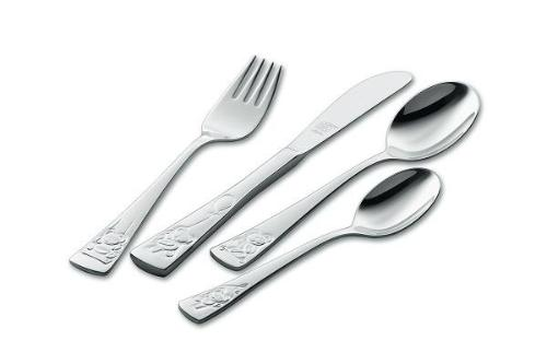 TEDDY 4-PIECE FLATWARE CHILDREN SET