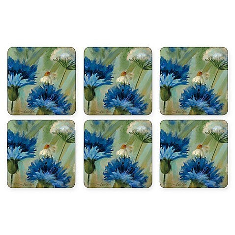 "Pimpernel - Fleur des Champs 4x4"" s/6 Coasters - Britannia Kitchen & Home Calgary"