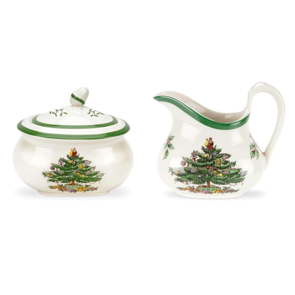 Spode Christmas Tree Sugar Bowl & Cream Set