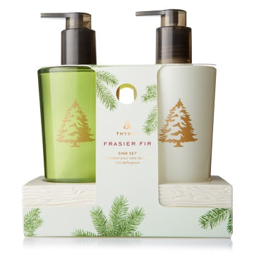Thymes Frasier Fir Sink Set with Ceramic Caddy - Britannia Kitchen & Home Calgary