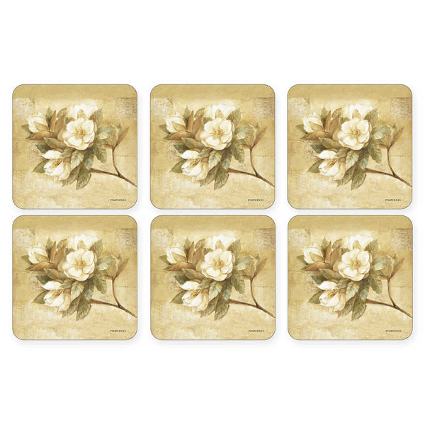 "Pimpernel - Sugar Magnolia 4x4"" s/6 Coasters - Britannia Kitchen & Home Calgary"