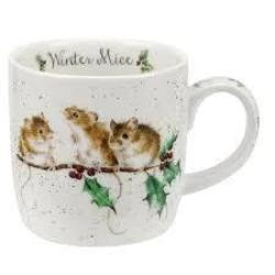 11oz Mug Winter Mice - Wrendale - Britannia Kitchen & Home Calgary