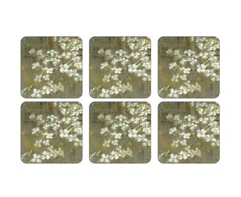 "Pimpernel - Dogwood in Spring 4x4"" s/6 Coaster"