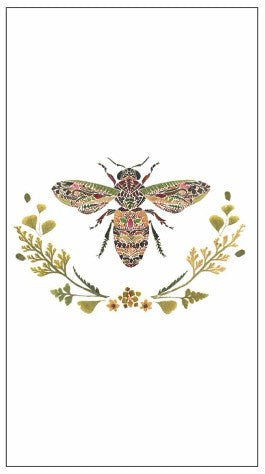 Green Bee Guest Napkin