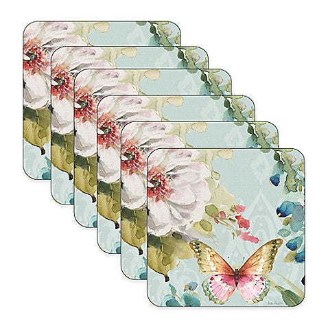 "Pimpernel - Colorful Breeze Coaster s/6 4"" x 4"" - Britannia Kitchen & Home Calgary"