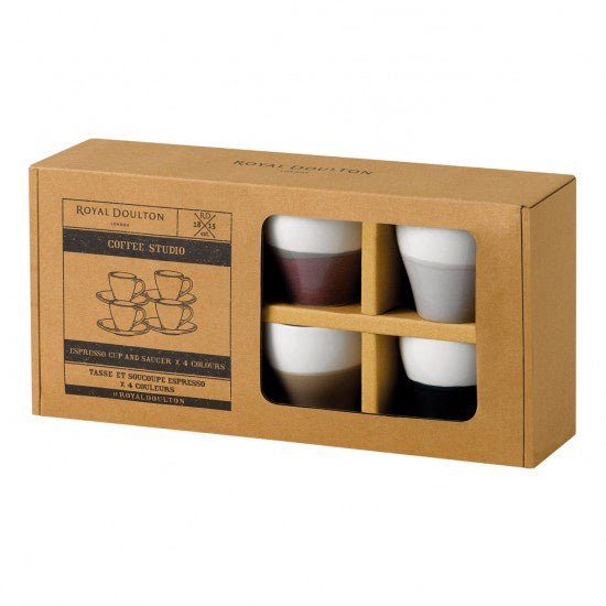Royal Doulton Coffee Studio - Espresso Cups & Saucers - Britannia Kitchen & Home Calgary