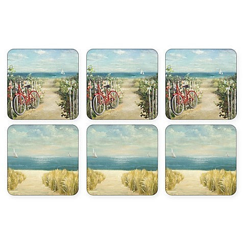 "Pimpernel - Summer Ride 4x4"" s/6 Coasters"
