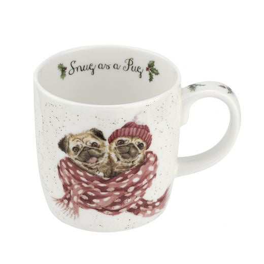 "11oz Mug ""Snug as a Pug"" - Wrendale - Britannia Kitchen & Home Calgary"