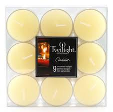 Clear Cup Colored Tea Lights - 9 pcs