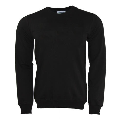 Black basic crewneck