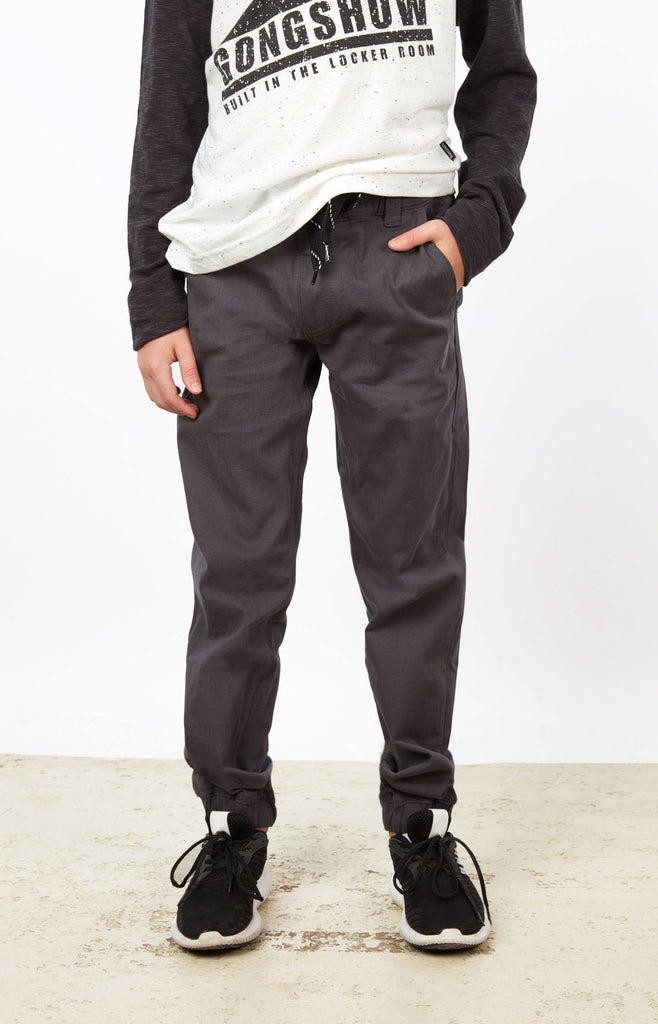 Dark Grey Jogger Chinos JR