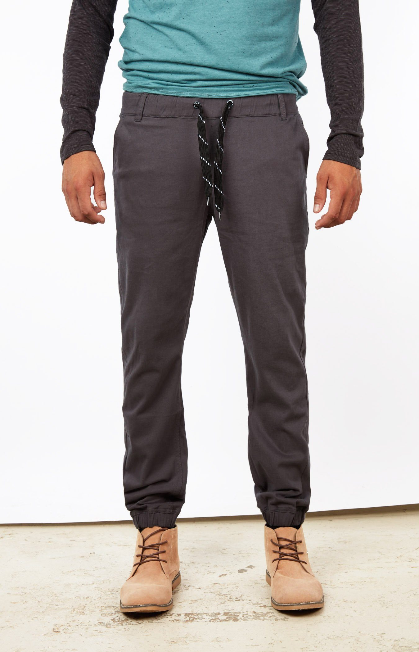 Dark Grey Jogger Chinos Bottom Mens Gongshow Hockey Joggers
