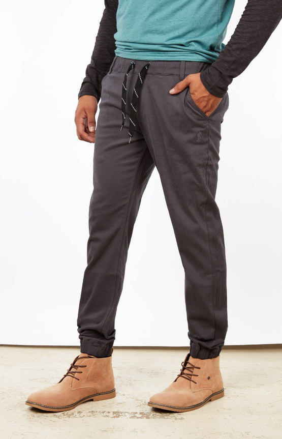 Dark Grey Jogger Chinos