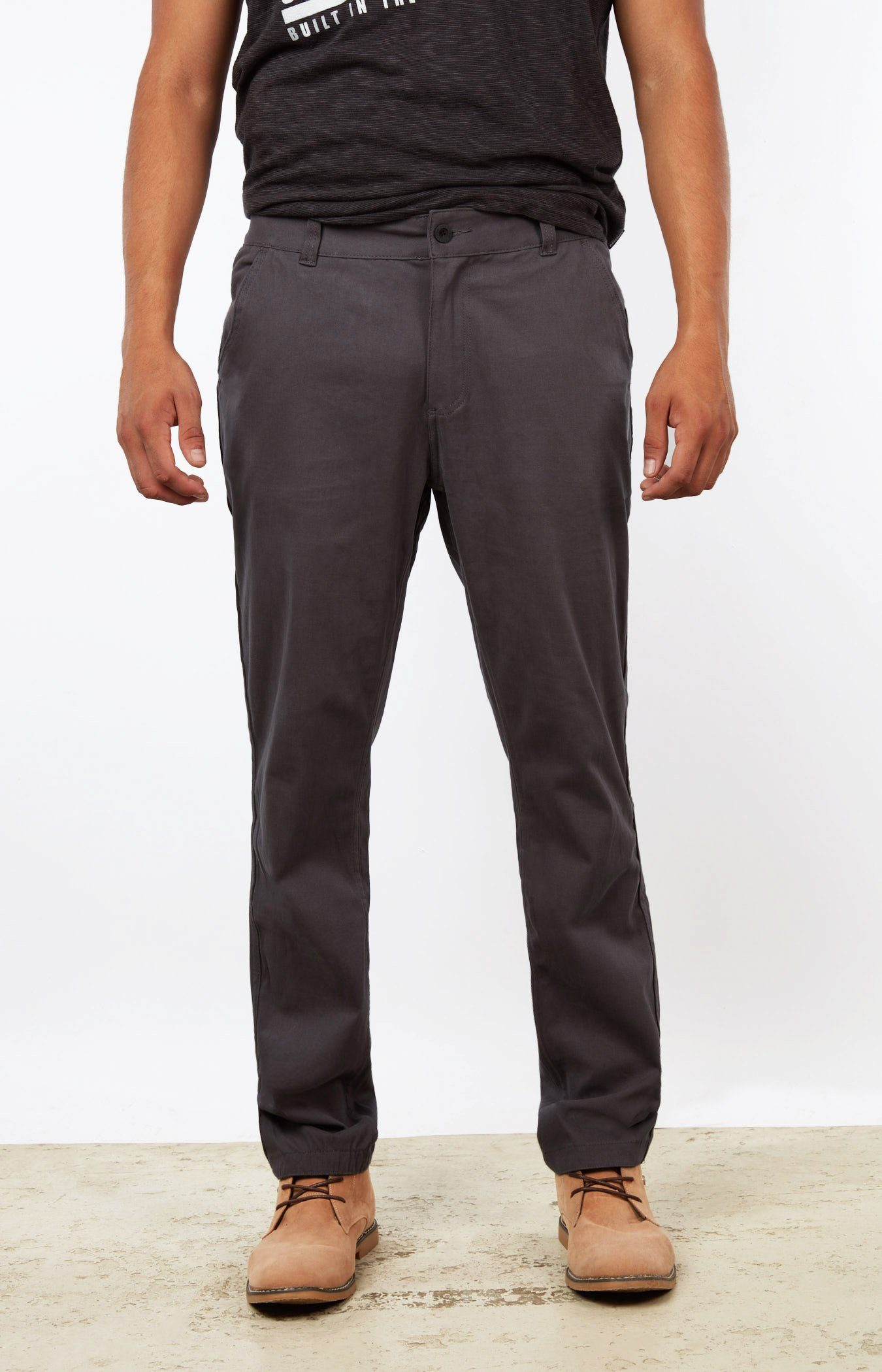 Dark Grey Chinos Jogger Bottom Mens Gongshow Hockey Pants Gongshow