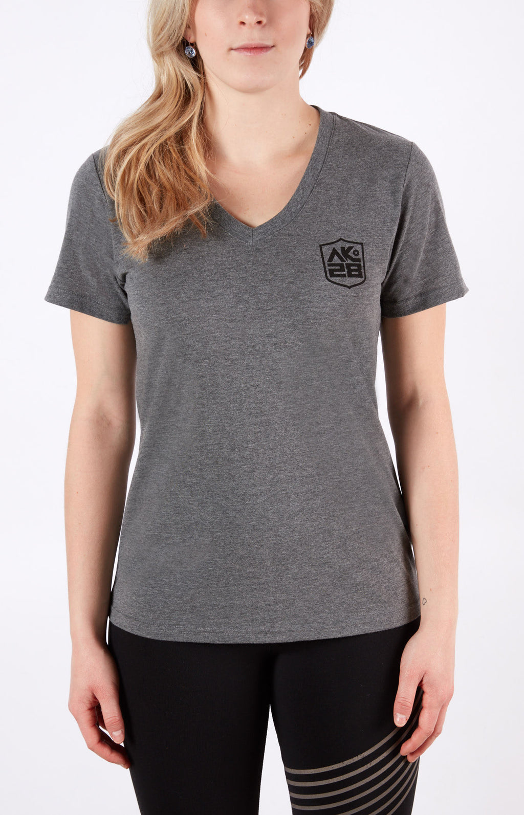 AK28 Grey V-Neck
