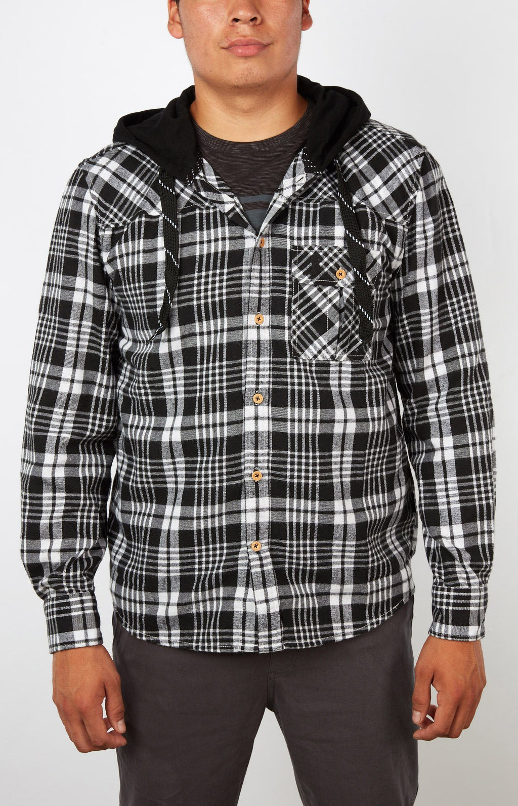 Plaid For The Lad Black/White