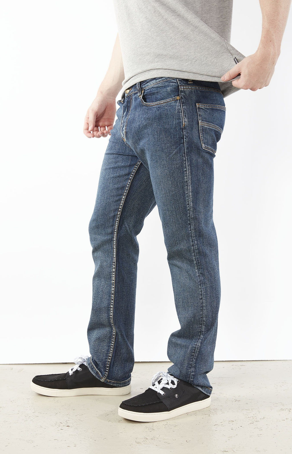 Quadasaurous Medium Wash - Slim Stretch