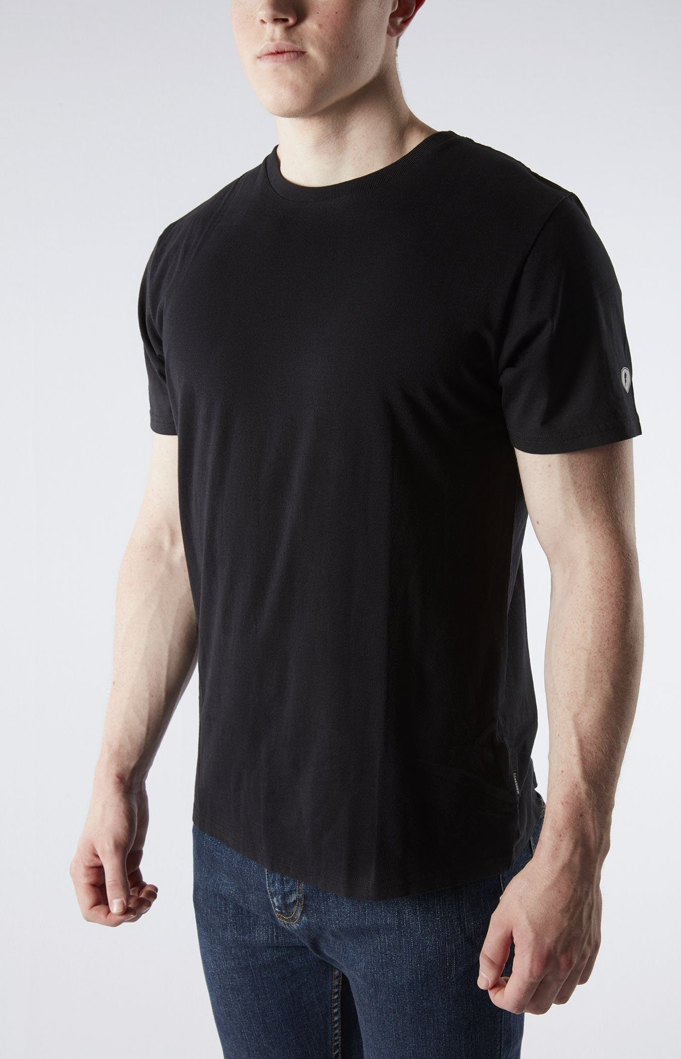 b2b5d95fa380 Blank Crew Neck Black Hockey Tshirt