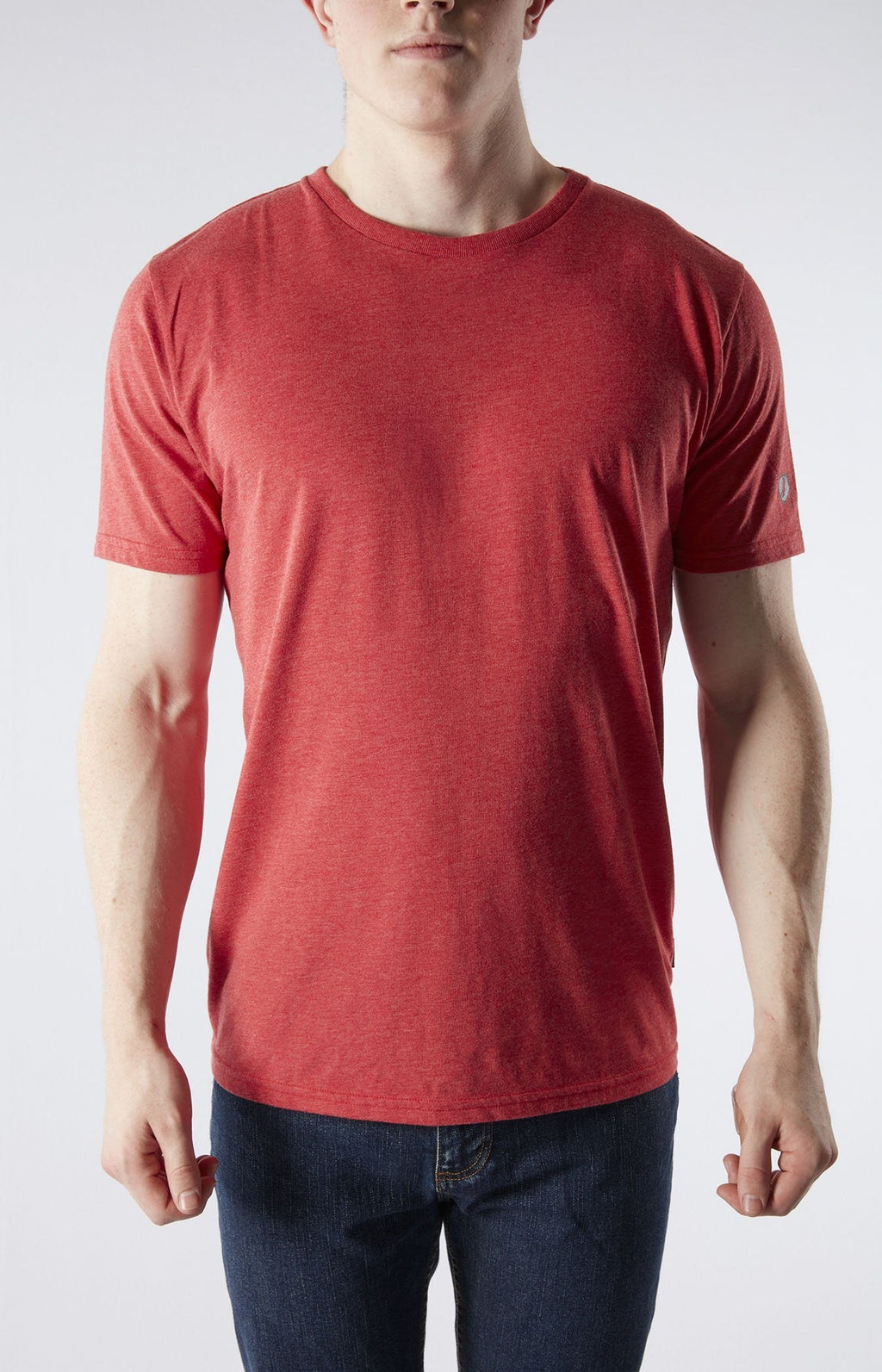 Blank Crew Neck Tee - Red