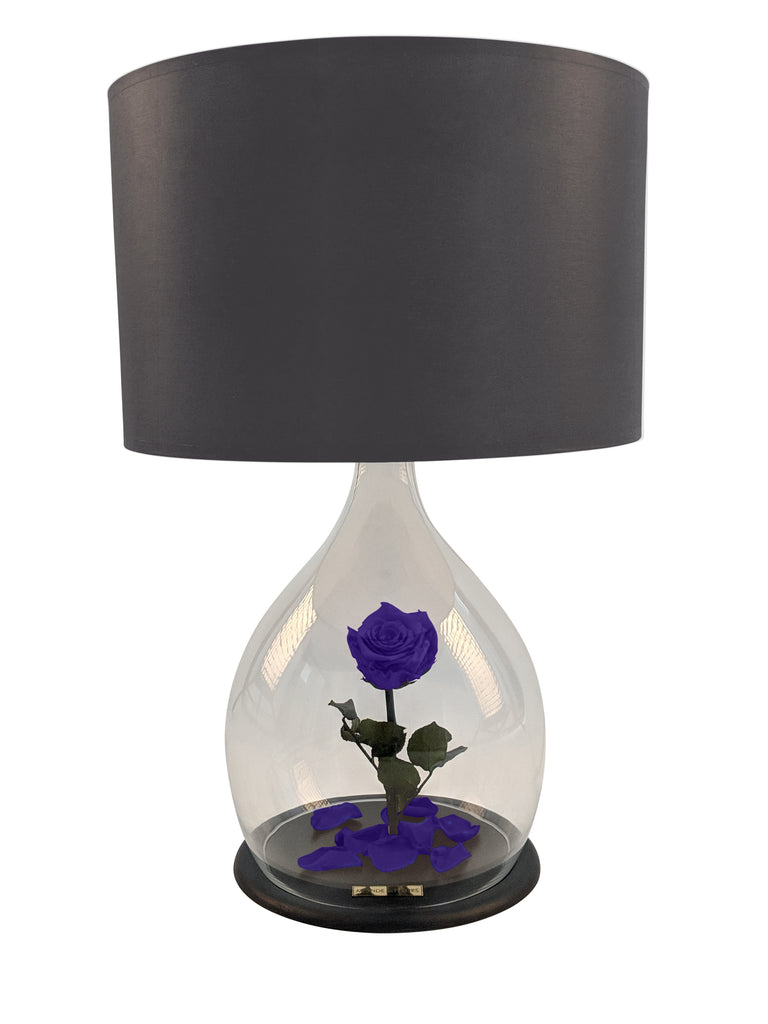 Rosen Lampe mit Rose in Lila