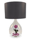 Rosen Lampe mit Rose in Rosa