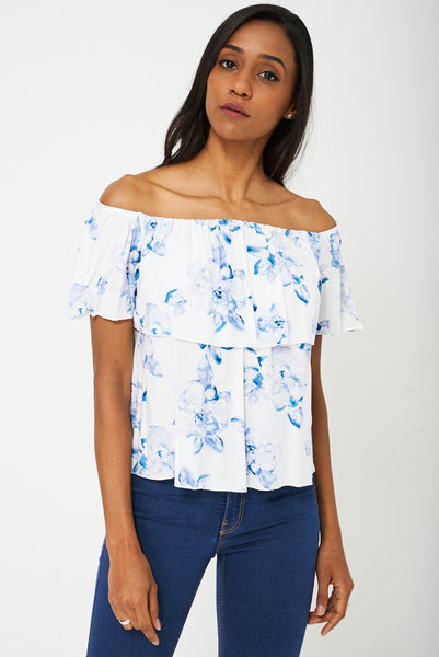 BIK BOK Off Shoulder Floral Top