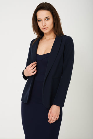 Navy Tailored Blazer Ex Brand