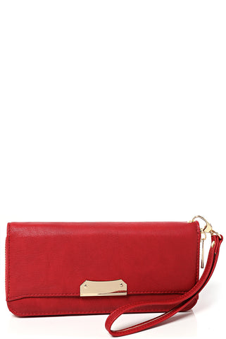 Zip Around Purse in Red