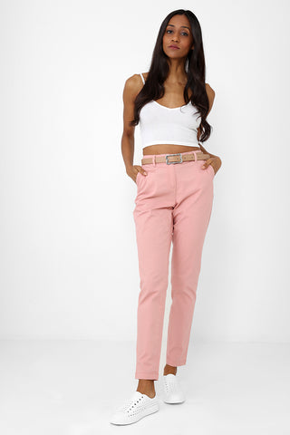 Mom Trousers in Pink