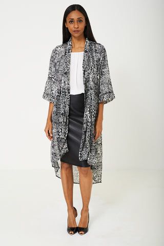BIK BOK Sheer Cardigan in Aztec