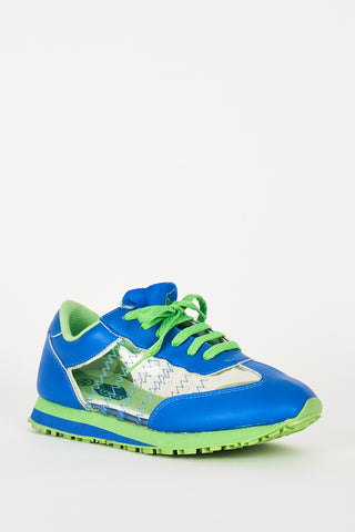 Blue Trainers With Perspex Details Ex-Branded