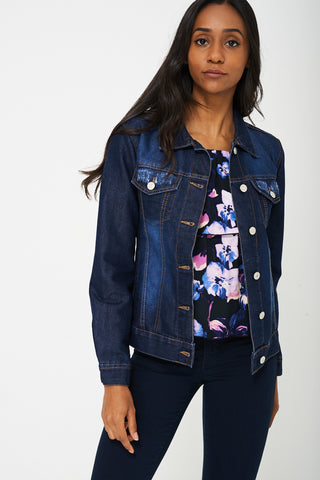 Denim Jacket In Navy Ex-Branded
