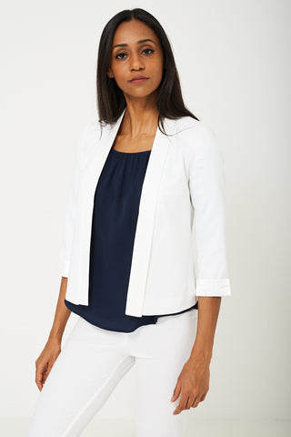 BIK BOK Tailored Blazer in Cream