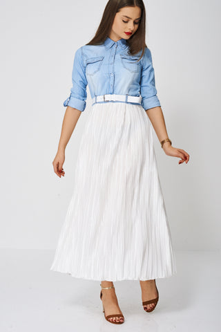 Maxi Dress With Pleated Skirt Ex-Branded