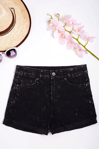 High Waisted Denim Shorts Ex Brand