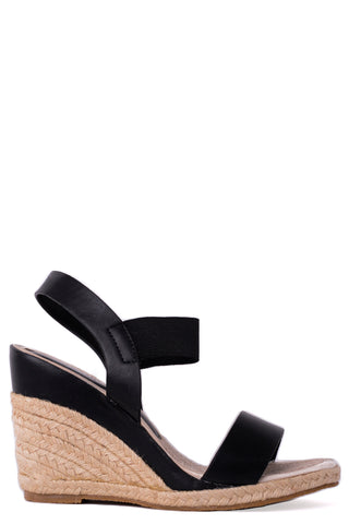 Espadrille Wedge in Black